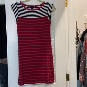 French connection striped cap sleeve dress 6